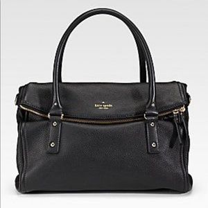 Kate Spade Leather Fold Over Top Handle Satchel
